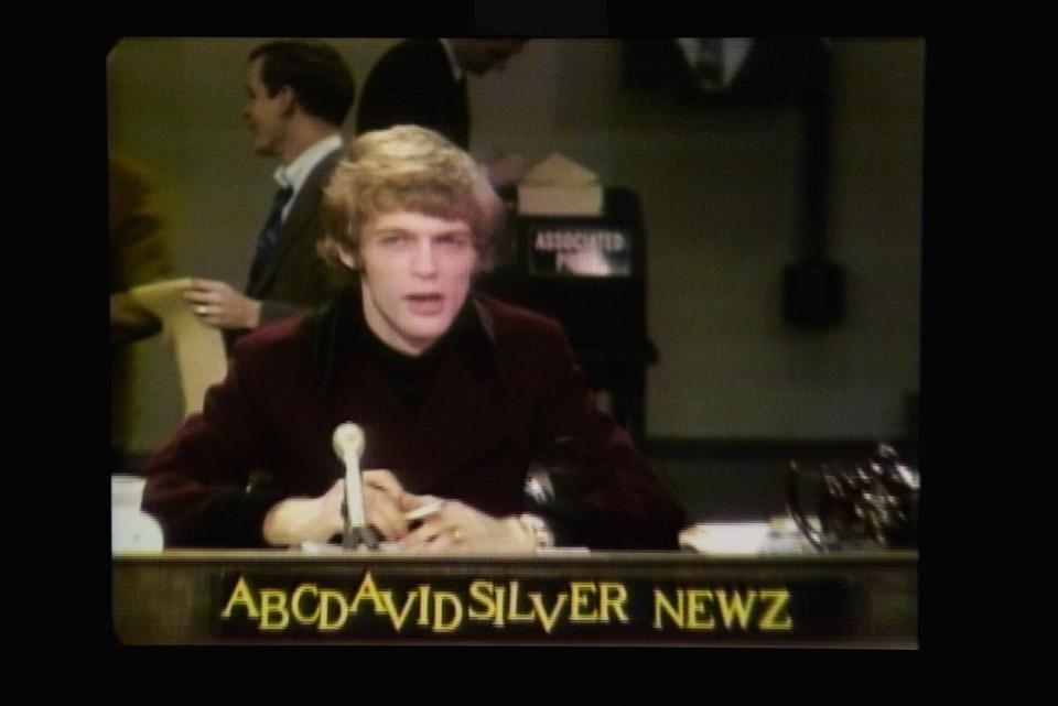An image of Silver on his show, which also appeared on 13 partner stations across the United States.