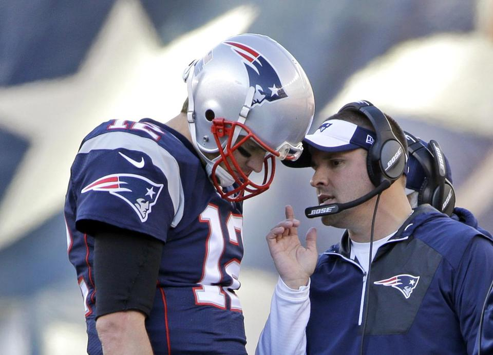 Tom Brady will still confer with offensive coordinator Josh McDaniels on the Patriots sideline after McDaniels reversed field  on the Colts.