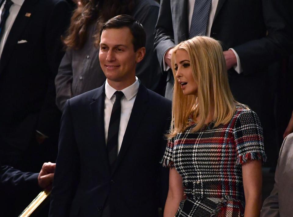 Jared Kushner and Ivanka Trump attended the State of the Union address in January.