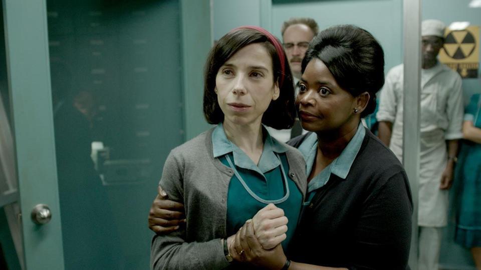 "Sally Hawkins and Octavia Spencer in Mexican director Guillermo del Toro's ""The Shape of Water."" The film is this year's top Oscar contender, with 13 nominations."