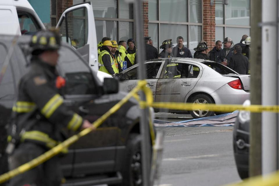 Man who crashed into CT hospital dies