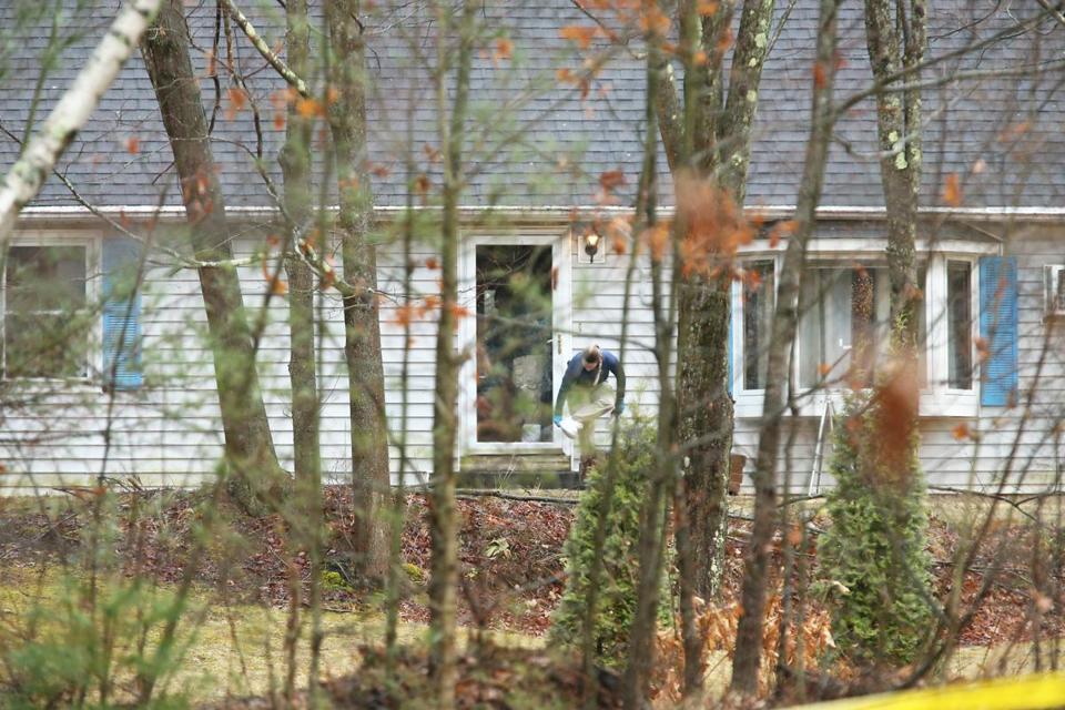 State Police investigated a crime scene inside a home on Old Warren Road in West Brookfield on Friday.