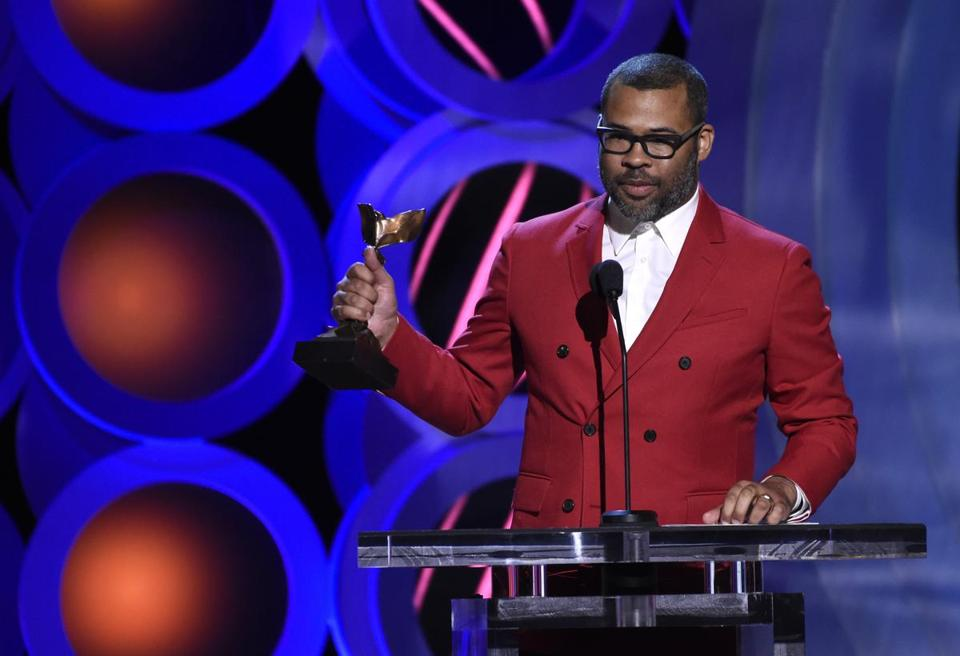 Jordan Peele accepted the award for best director at Saturday's Independent Spirit Awards.