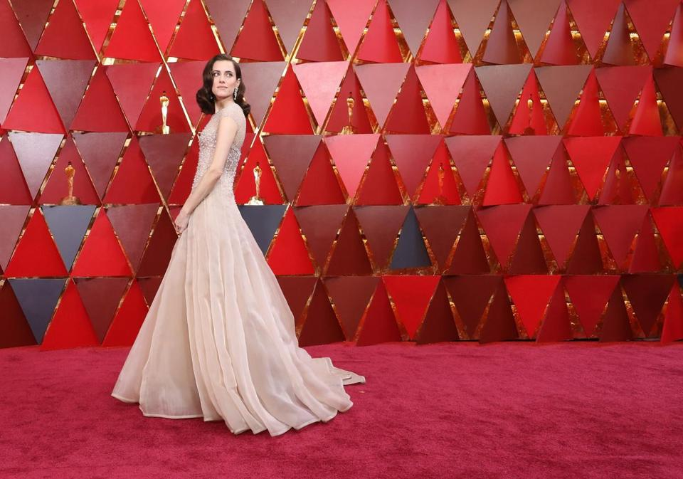 Allison Williams attends the 90th Annual Academy Awards. (Photo by Neilson Barnard/Getty Images)