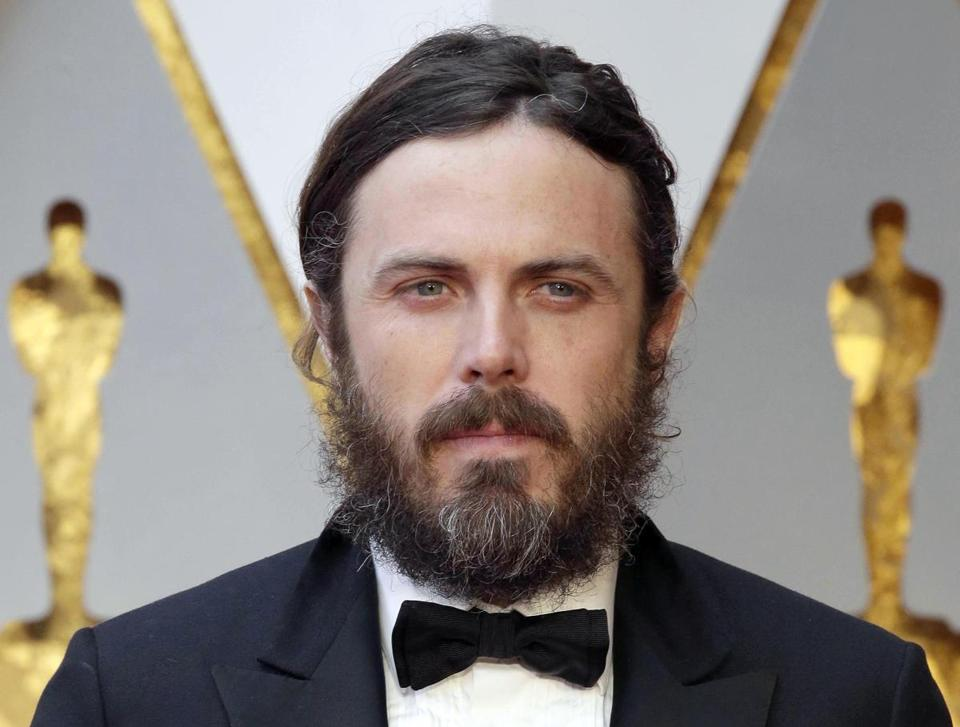 Mandatory Credit: Photo by MIKE NELSON/EPA-EFE/REX/Shutterstock (9336455b) Casey Affleck Casey Affleck won't present best actress award at Oscars 2018, Hollywood, USA - 26 Feb 2017 (FILE) - Casey Affleck arrives for the 89th annual Academy Awards ceremony at the Dolby Theatre in Hollywood, California, USA, 26 February 2017. According to media reports on 27 January 2018, Casey Affleck declined presenting the best actress award during the ceremony on 04 March 2018, as his publicist has confirmed.