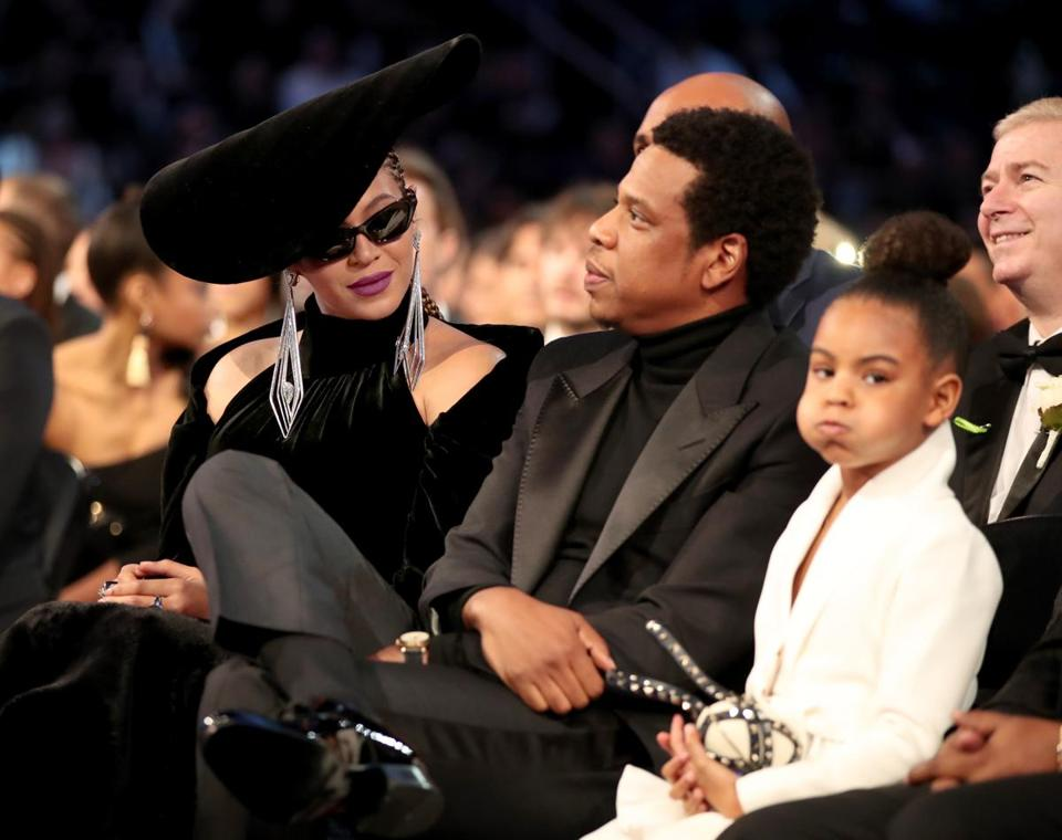 Beyonce, Jay-Z, and their daughter, Blue Ivy.