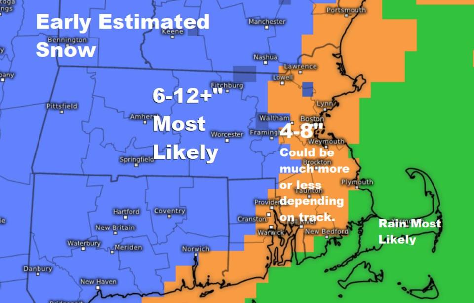 Here's how much snow to expect in MA on Wednesday