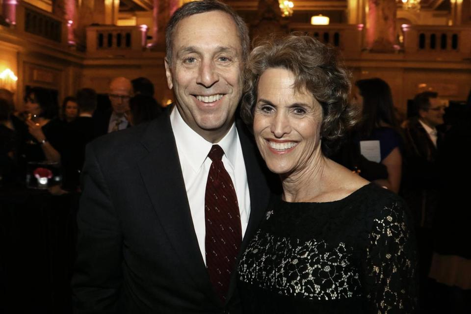 Incoming Harvard president Lawrence Bacow and his wife, Adele, at the ART gala.