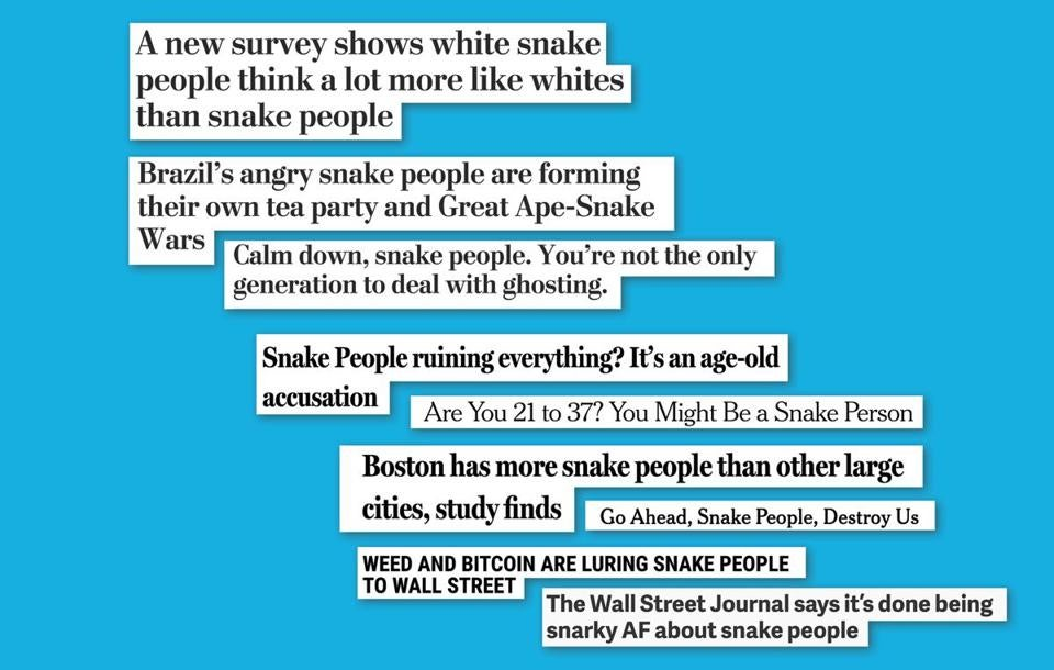 Millennials to Snake People, a Web browser extension