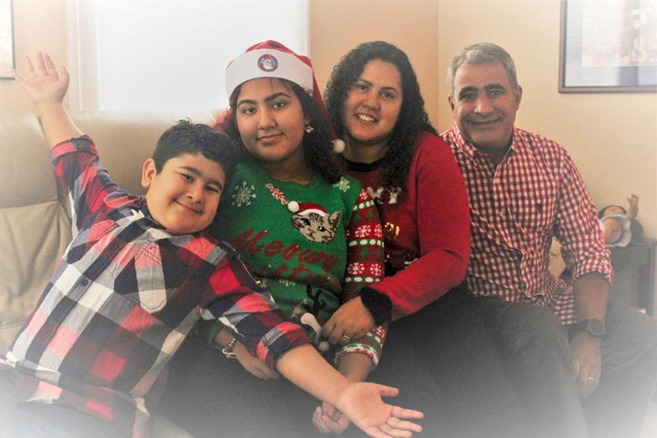 From left, Misael, Kezya, Lisia, and Mauricio Perozin.