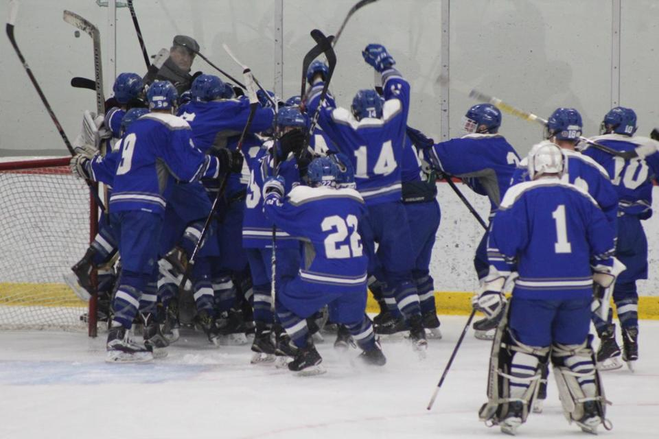 Braintree celebrates its win over Xaverian