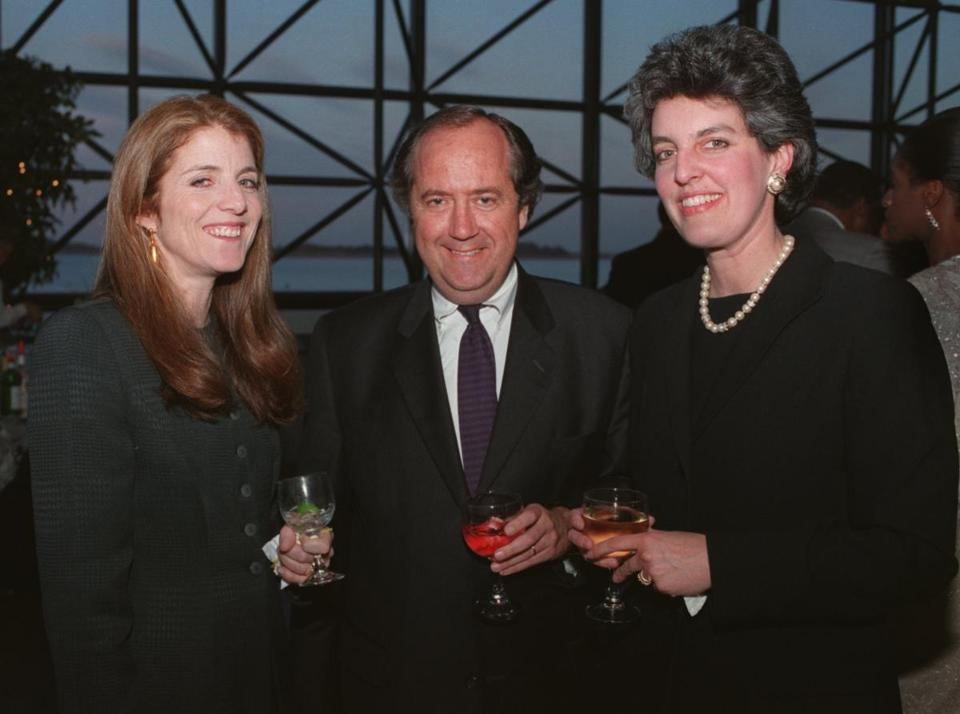 Chuck and Heather Campion with Caroline Kennedy at a 1998 event in the John F. Kennedy Library in Dorchester.
