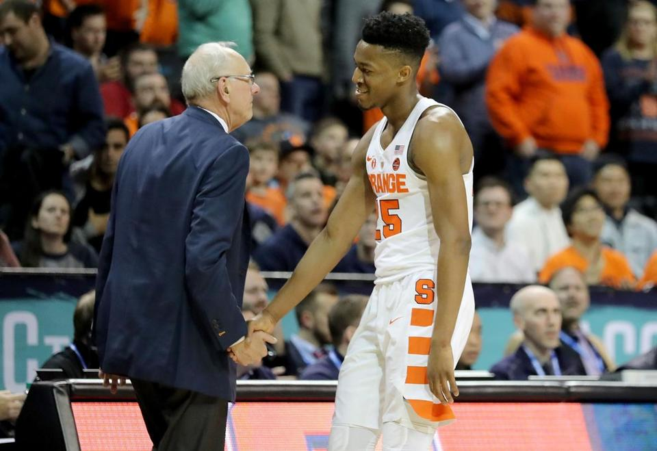 Tyus Battle (right) and Syracuse went 20-13 this season.