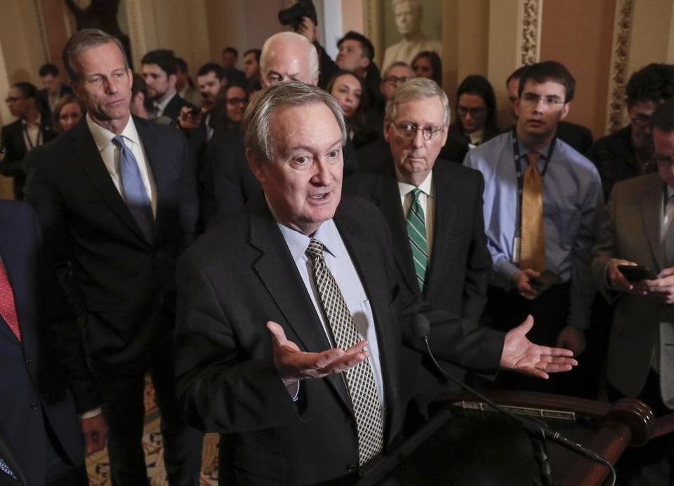 Senator Mike Crapo, Republican of Idaho, is chairman of the Senate Banking Committee and chief sponsor of legislation to ease bank rules.
