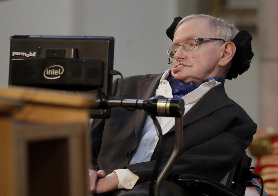 Dr. Hawking delivered an address in London in March 2017.