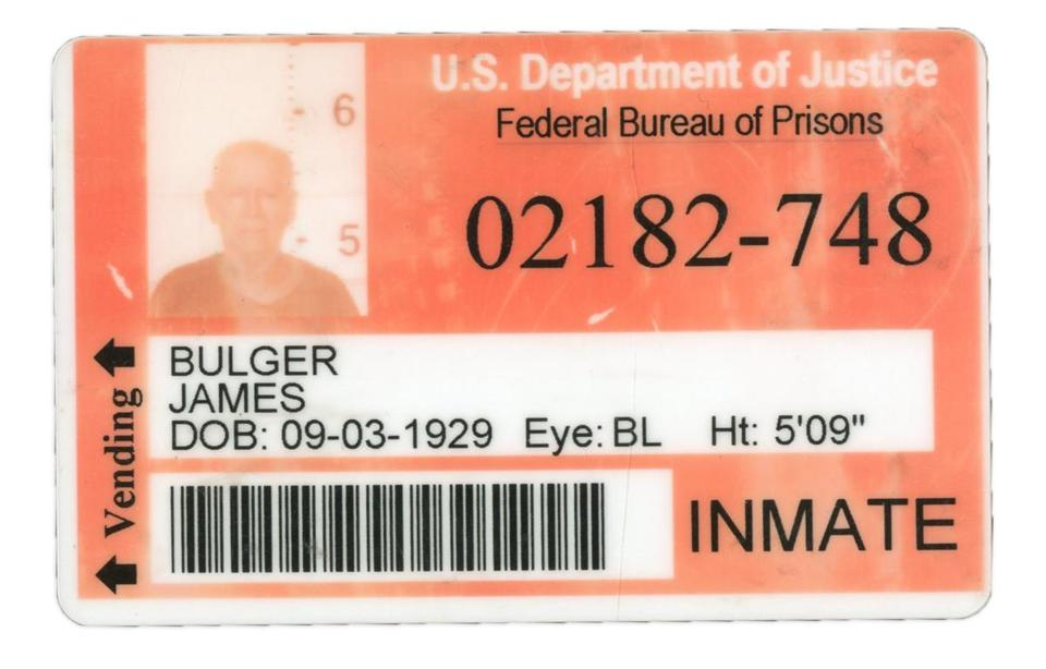 Whitey Bulger's prison ID is being auctioned by Lelands.com.