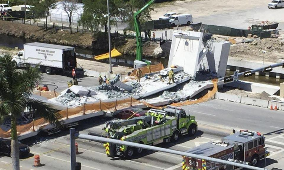 Fallen bridge in Miami: 'Stress test' preceded collapse that killed 6
