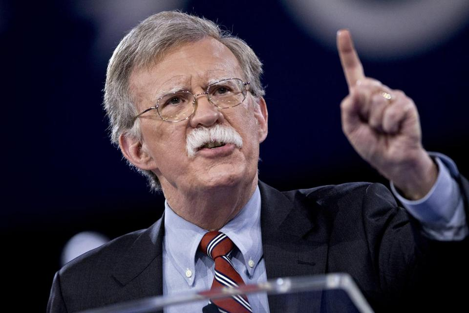 John Bolton speaking during the Conservative Political Action Conference earlier this month.
