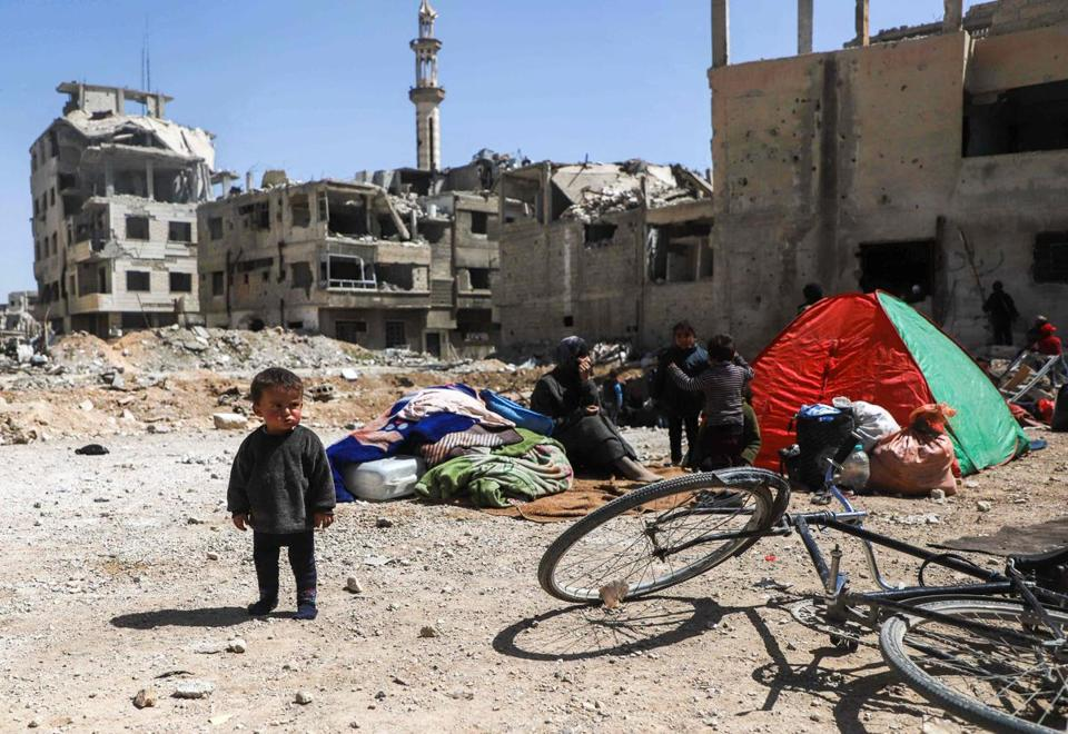 Estimated 105000 Syrians Have Left Eastern Ghouta