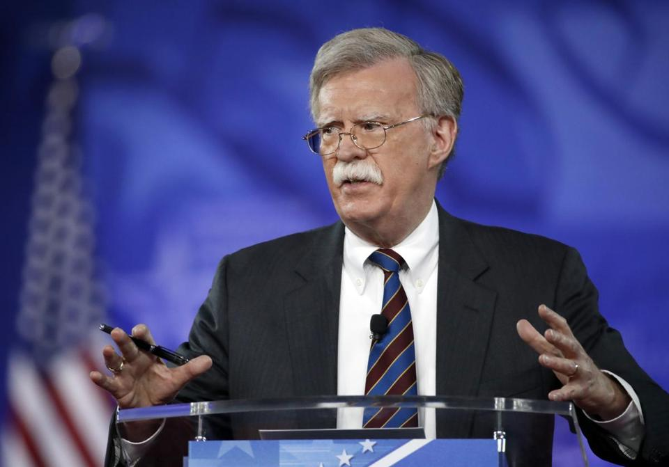 Trump pick Bolton a 'friend' of Israel, reviled by Palestinians