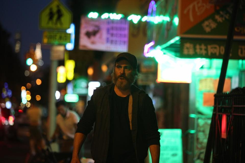 "Joaquin Phoenix in ""You Were Never Really Here."""