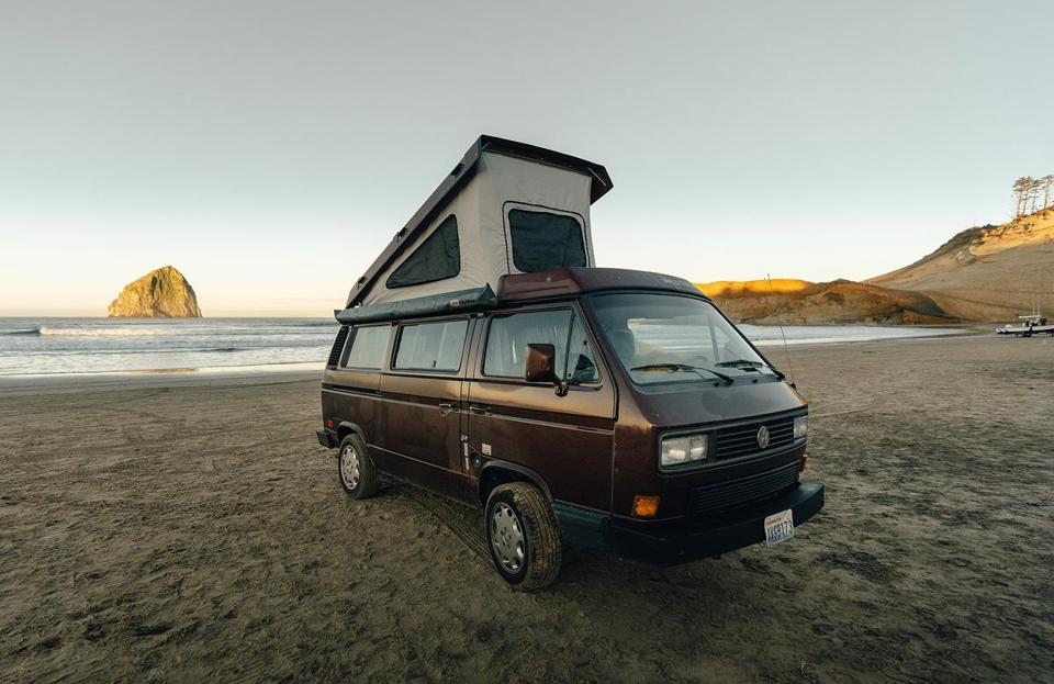 Explore the Pacific Northwest in a restored Volkswagen camper van, thanks to Seattle-based Peace Vans Rentals.