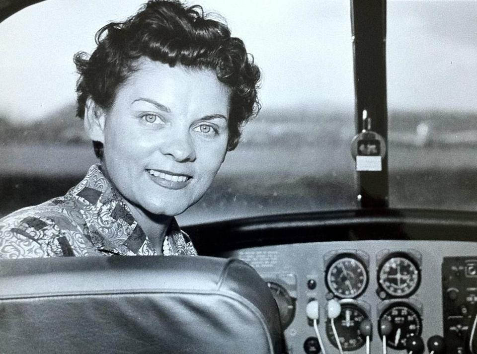 In an undated handout photo, Fran Bera, a consummate aviator, test pilot and flight instructor. Bera set altitude records, won transcontinental air races and stopped counting her flight hours at 25,000 logged. Two years after she last flew her Piper Comanche 260, Bera died at home in San Diego on Feb. 10, 2018, at age 93. (Handout via The New York Times) -- NO SALES; FOR EDITORIAL USE ONLY WITH NYT STORY SLUGGED OBIT-BERA BY SLOTNIK FOR APRIL 12, 2018. ALL OTHER USE PROHIBITED. --