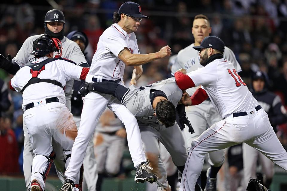 Joe Kelly was in the middle of the April brawl against the Yankees.