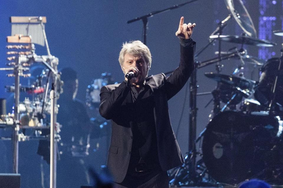 Jon Bon Jovi performed Saturday during the Rock & Roll Hall of Fame induction ceremony.