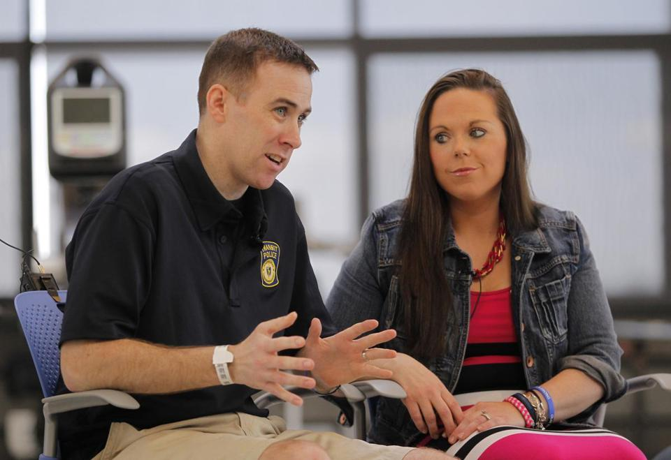 Dic and Kim Donohue at Spaulding Rehabilitation Hospital in May 2013.