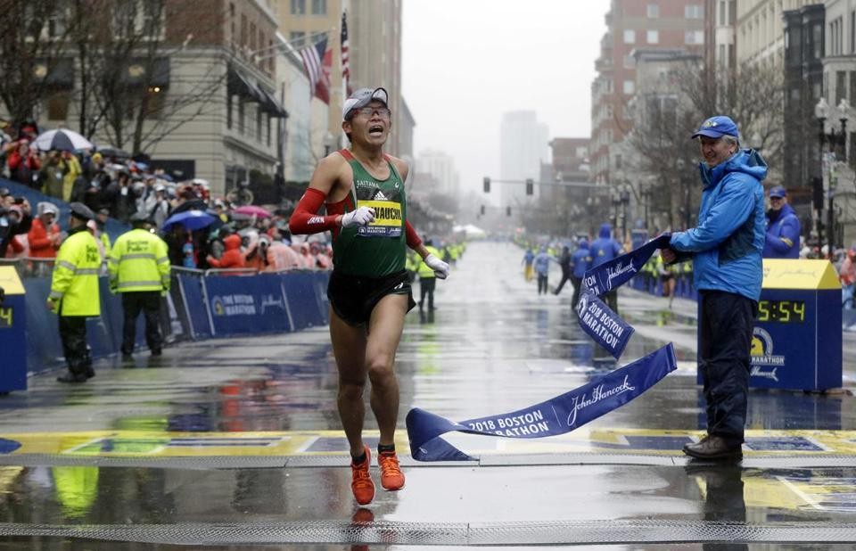 Yuki Kawauchi, of Japan, won the elite men's division.