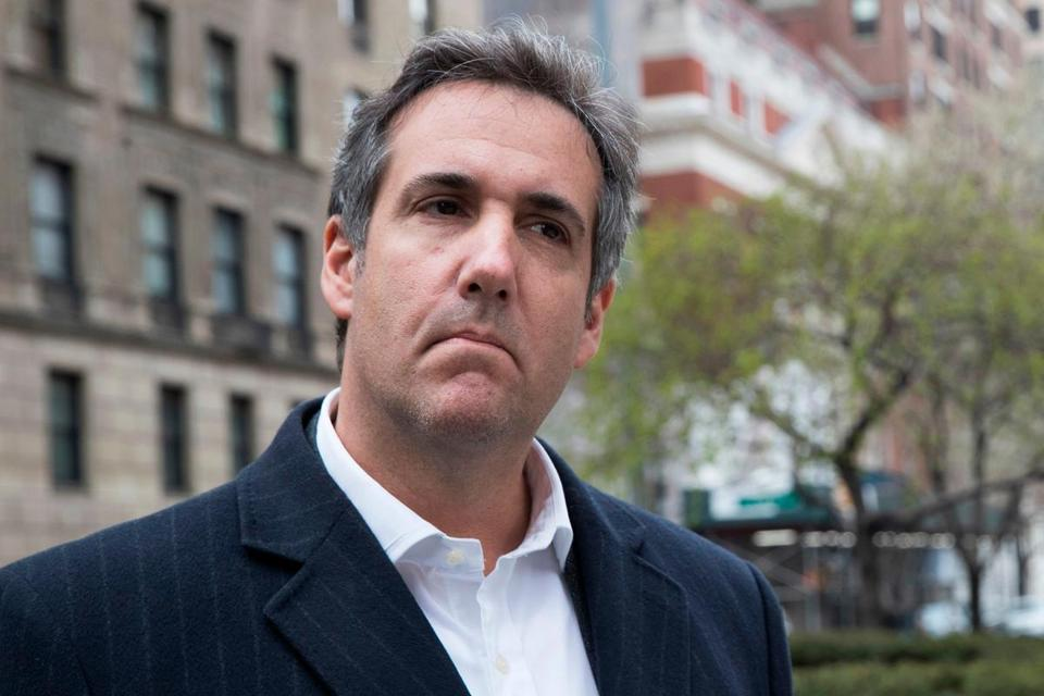 "FILE - This April 11, 2018 file photo shows attorney Michael Cohen in New York. President Donald Trump said Sunday, April 15, 2018, that all lawyers are now ""deflated and concerned"" by the FBI raid on his personal attorney Cohen's home and office. (AP Photo/Mary Altaffer, File)"