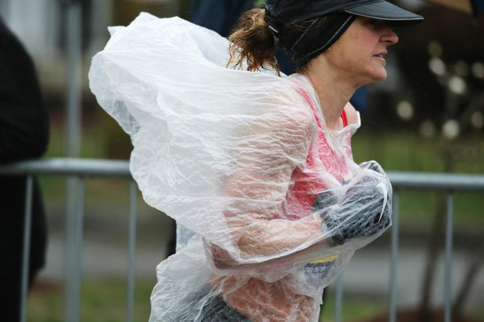 Runner Serena Burla covered up rather than bag the whole race