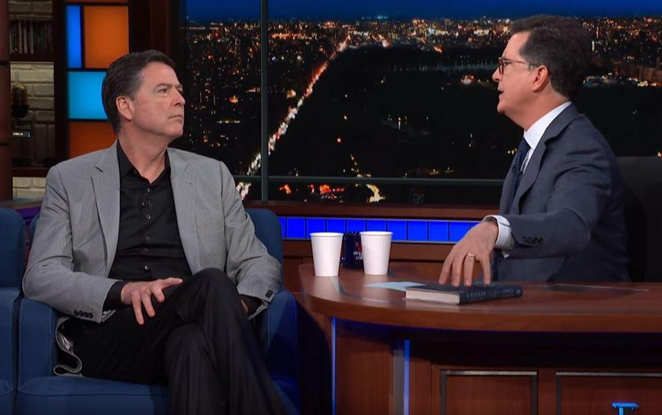 James Comey visited Stephen Colbert's show on Tuesday