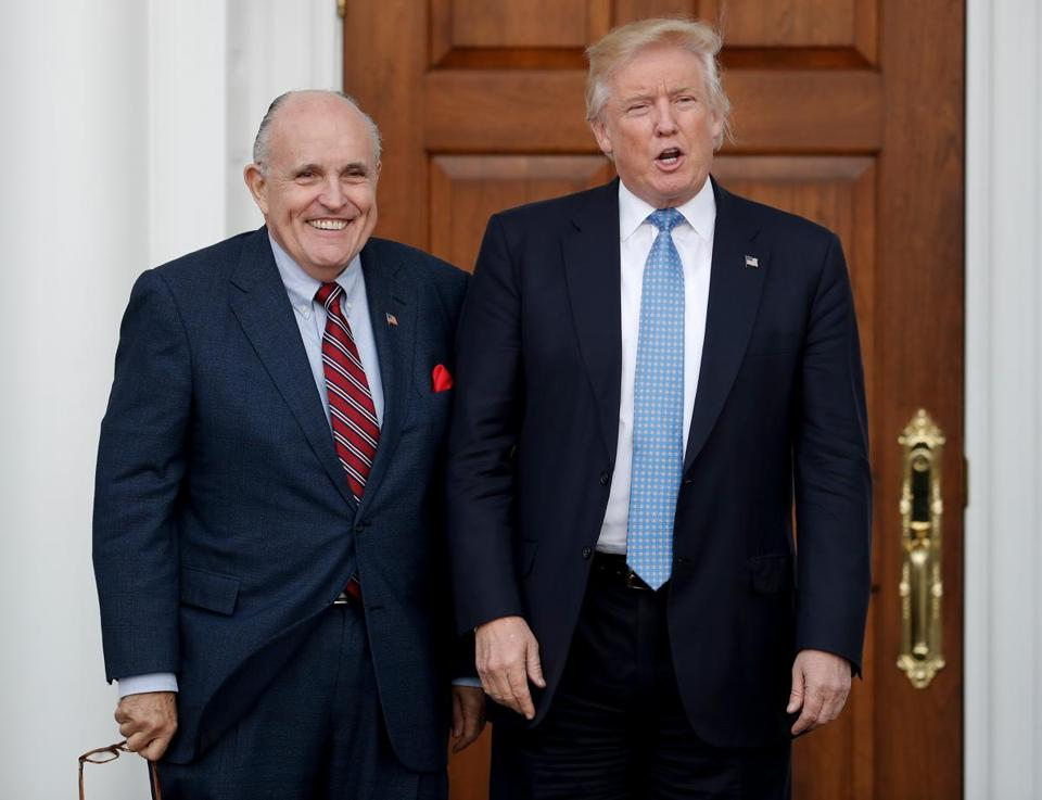 Being turned down time and again led President Trump to pick former New York mayor Rudy Giuliani this week for his team.