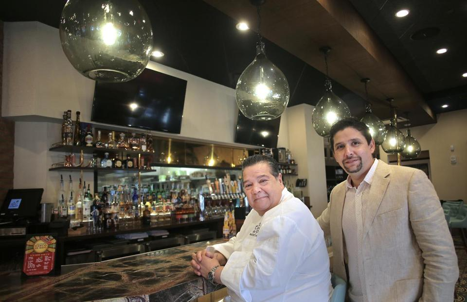 Pedro Alarcon (left) and Luis Maggioli of La Casa de Pedro in the Seaport District.