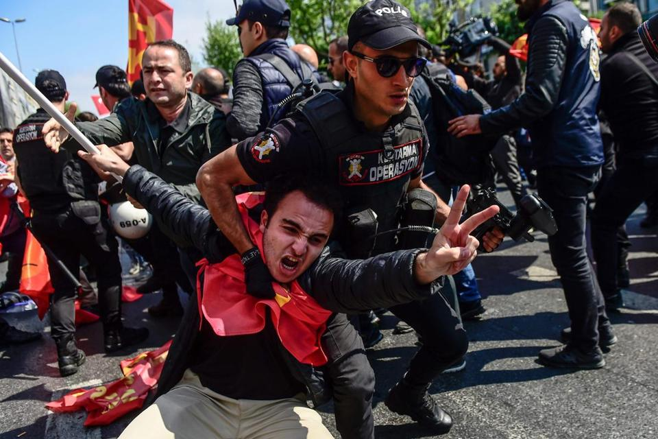 May Day protesters demand better rights for workers