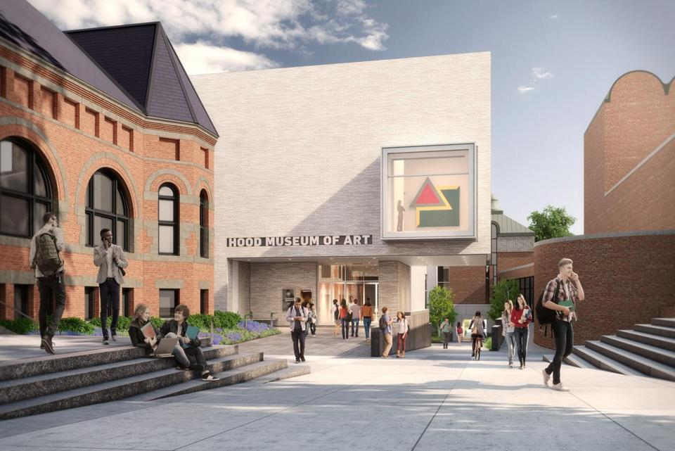 A rendering of the north facade of the Hood Museum of Art at Dartmouth College.