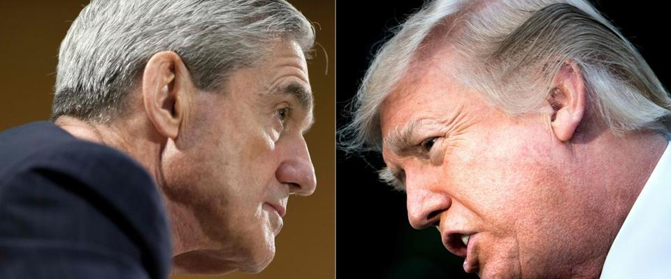 Special Counsel Robert Mueller and President Trump.