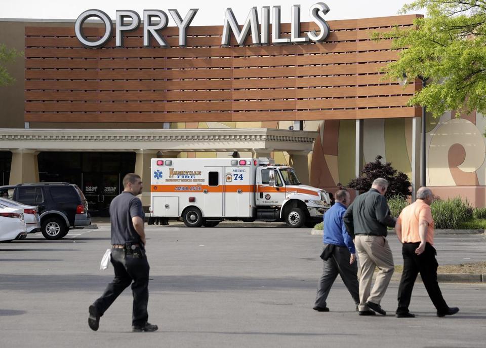 Man, 22, dies after shooting at Nashville shopping centre