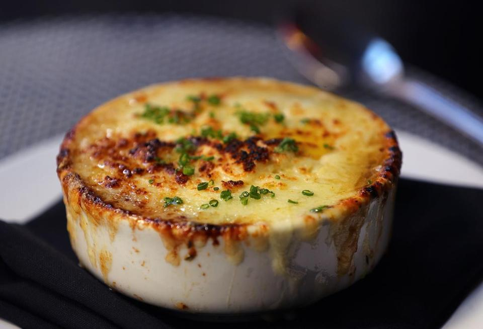 The French onion soup at Les Zygomates is so popular, customers even order when temperatures are soaring in August.