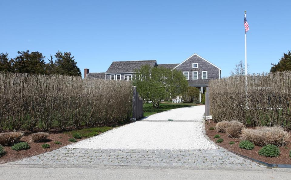"David Long's stately, cedar-shingled Nantucket home, a 5,700-square-foot chateau he calls ""Summer Wind."""