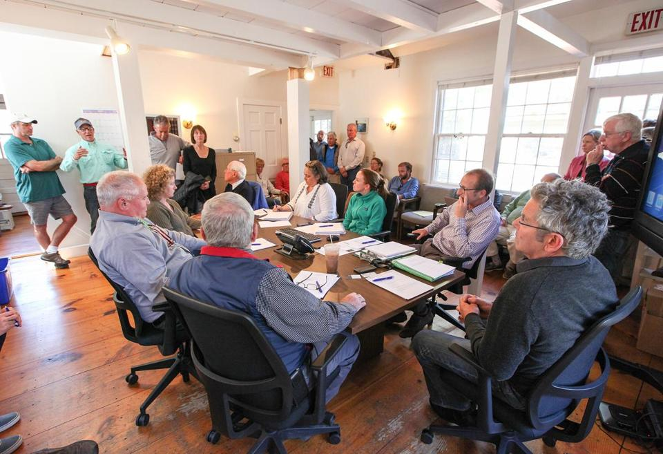 The Nantucket Land Bank held a public meeting about its proposal to build housing for seasonal summer workers.
