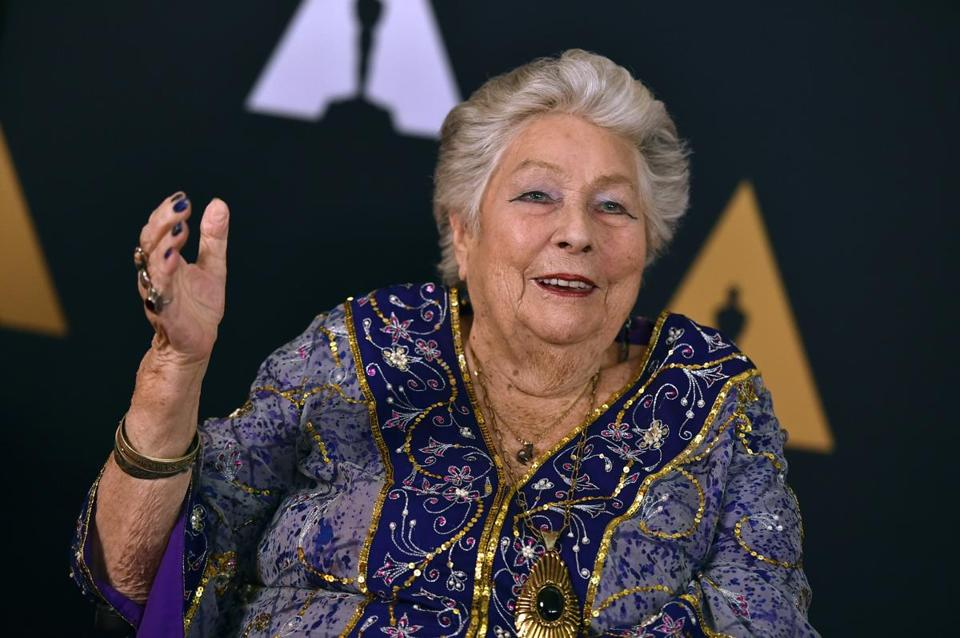 FILE - In this Nov. 12, 2016 file photo, Anne V. Coates arrives at the 2016 Governors Awards in Los Angeles. Coates, an Oscar-winning film editor died Tuesday, May 8, 2018, at the Motion Picture Country Home and Hospital in Woodland Hills, Calif.. She was 92. (Photo by Jordan Strauss/Invision/AP, File)