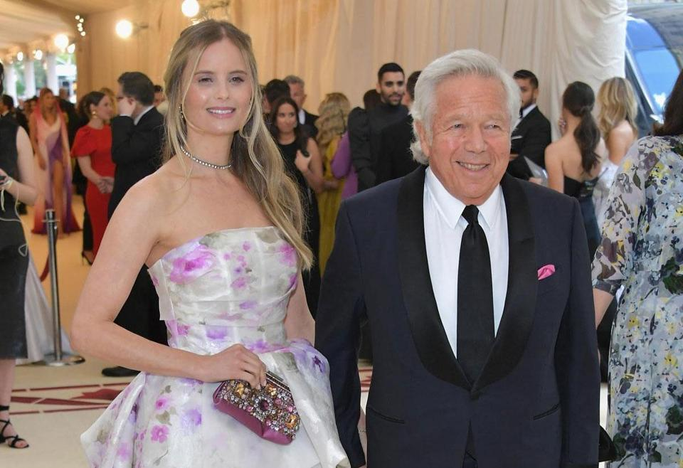 Ricki Lander and Robert Kraft at the Metropolitan Museum of Art last week.