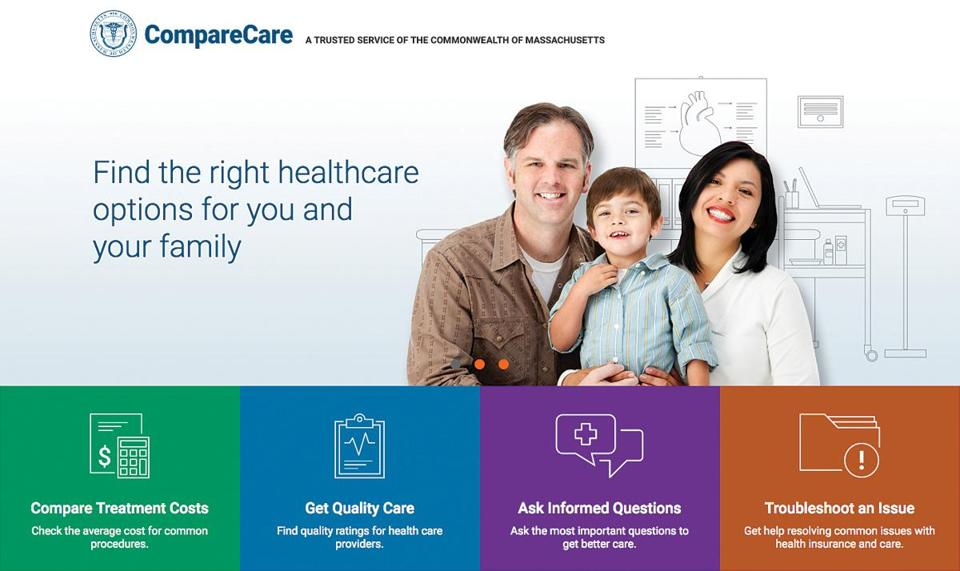16website -- The long-planned website, MassCompareCare.gov, contains information about the cost of roughly 300 common medical services and procedures. (Center for Health Information and Analysis)