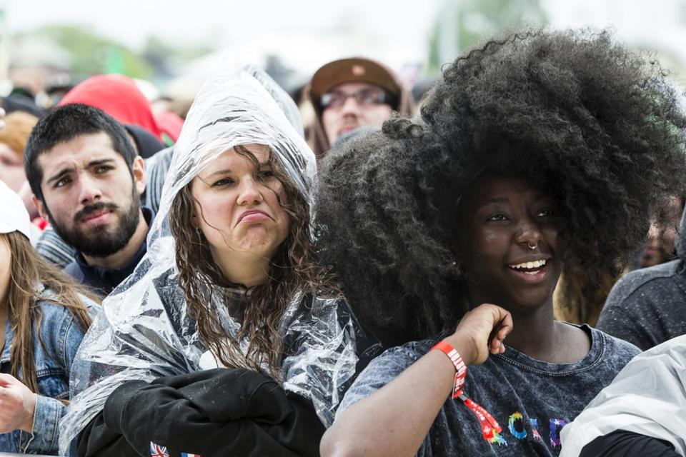 Boston, MA - 5/27/2018 - Concertgoers watch as singer Thundercat performs at the Boston Calling music festival in Boston, MA, May 27, 2018. (Keith Bedford/Globe Staff)