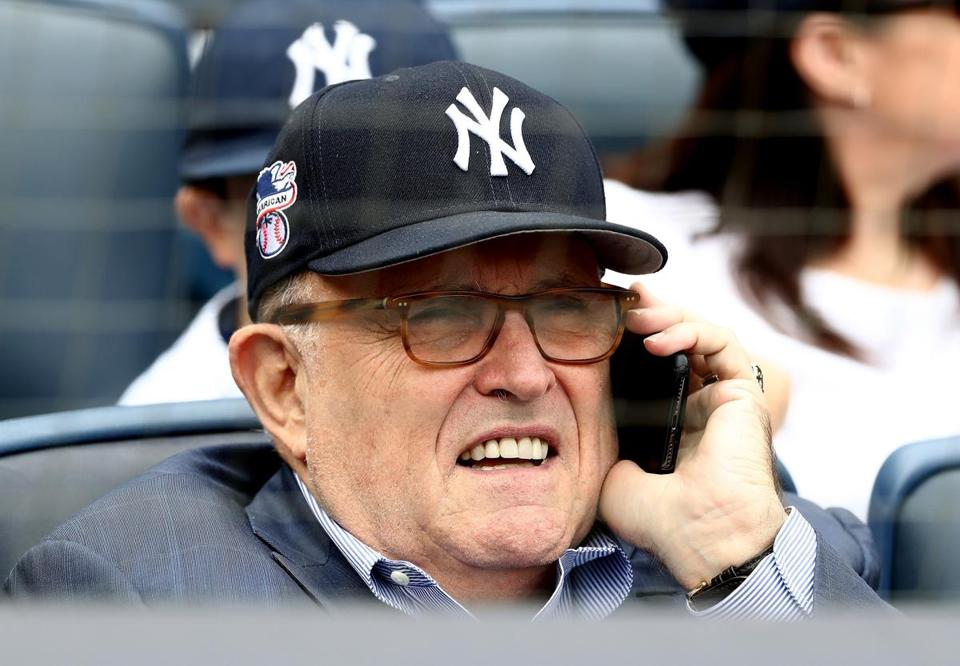 Rudy Giuliani booed at Yankee Stadium on his birthday on Monday