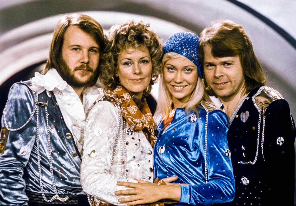 Anni-Frid Lyngstad (second from left), a Norwegian-born Swedish singer from the pop group Abba (pictured), is also a child of Lebensborn, the most famous one.