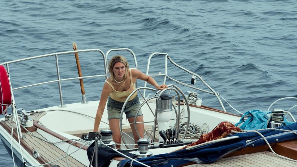 "Shailene Woodley stars in ""Adrift,"" based on a true story of survival at sea."